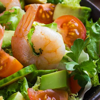 Easy Grilled Shrimp with Herbed Avocado Recipe