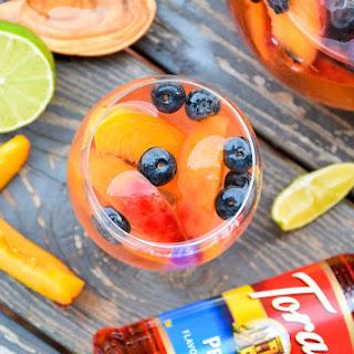 Sparkling Peach Sangria #MyToraniSummer Recipe