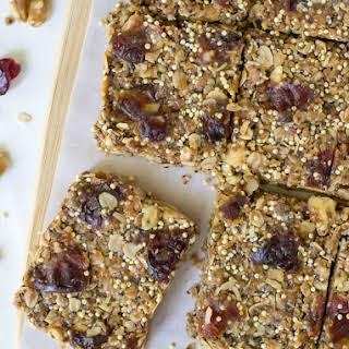 No Bake Peanut Butter Chia Healthy Granola Bars.