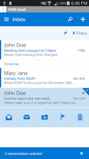 OWM for Outlook OWA 2016 Email Screenshot