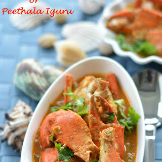 Crab Curry or Peethala Iguru