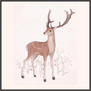 川の幻の鹿