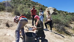 Trabajos arqueológicos en el entorno del cerro.