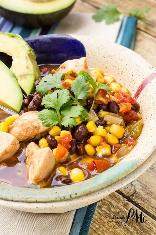 "Healthy Slow Cooker Tex Mex Chicken Soup""Healthy Slow Cooker Tex Mex Chicken..."