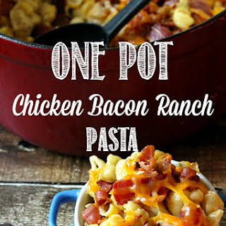 One Pot Chicken Bacon Ranch Pasta with Kraft Coupons.