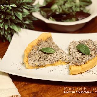 Cremini Mushroom & Tofu Quiche.