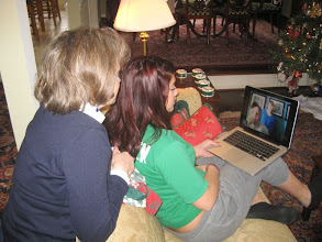 Photo: Meredith also videoteleconferenced with her fiancee and her future mother-in-law.