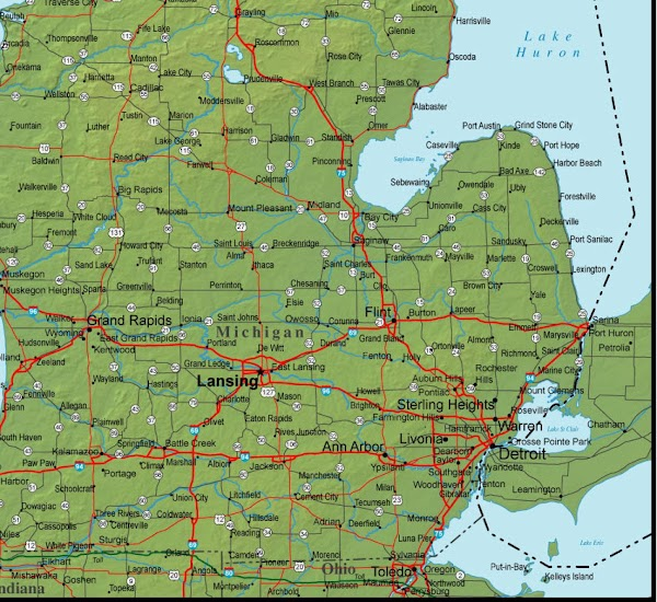 I live between Flint and Clio. In the lower pensilula of Michigan. I have...