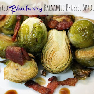 Roasted Blueberry Balsamic Brussel Sprouts.