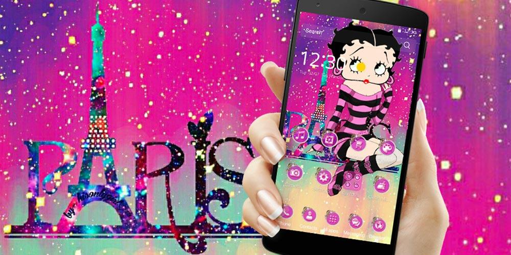 Cute Betty Boop Paris Eiffel Theme- screenshot