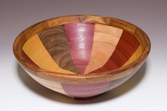 """Photo: Stan Sherman - segmented salad bowl, 13.5"""" x 5"""""""