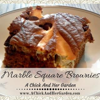 Marble Square Brownies.