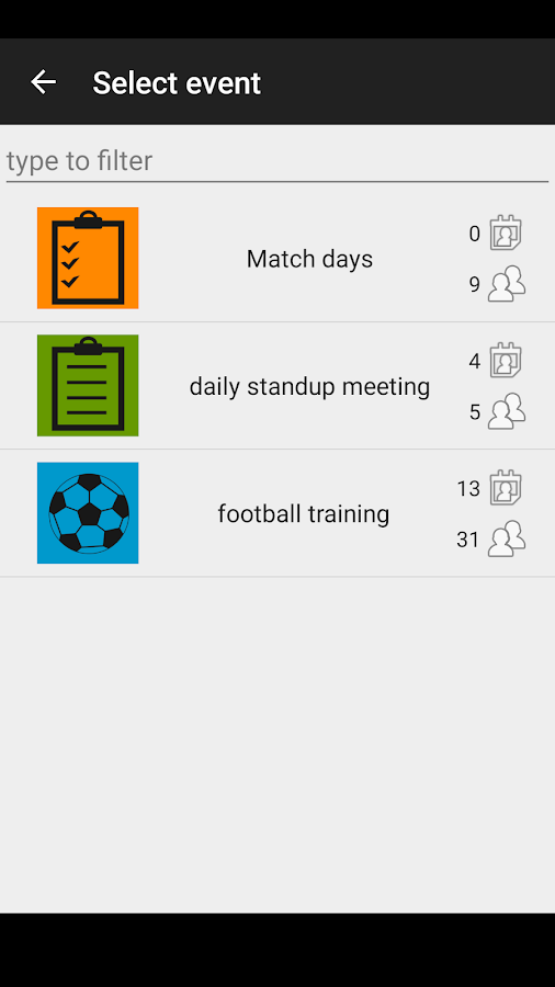 Attendance Tracker- screenshot