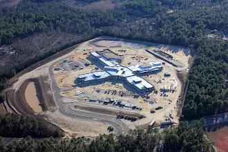 Photo: Progress on the new school on Longs Pond Road.