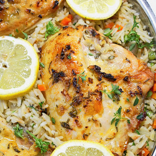 Lemon Herb Chicken Breasts with Rice Pilaf Recipe