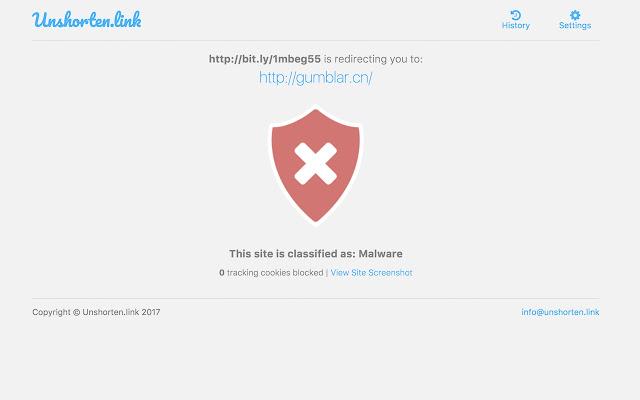 Unshorten.link Screenshot