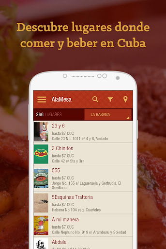 AlaMesa: comer y beber en Cuba