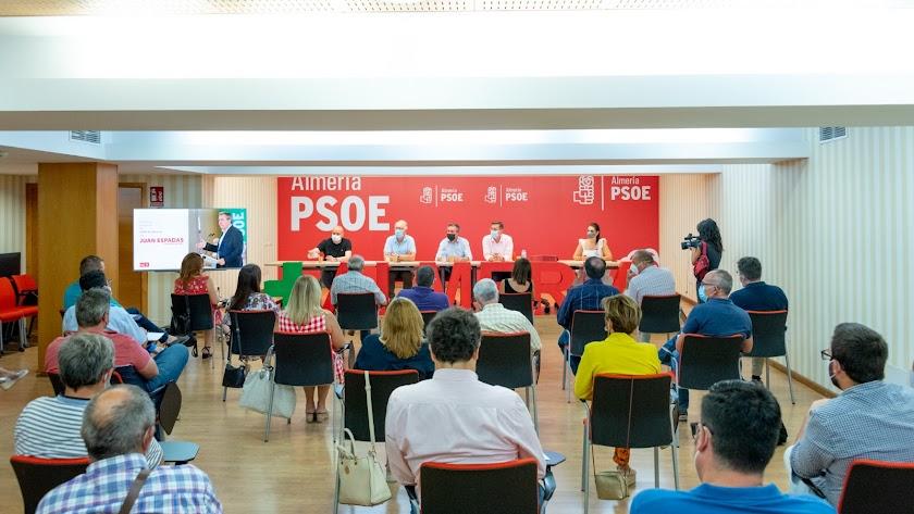 Foto de archivo de la Comisión Ejecutiva Provincial del PSOE de Almería