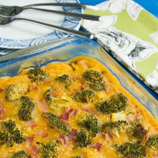 Chicken Broccoli Quinoa Squash Casserole.