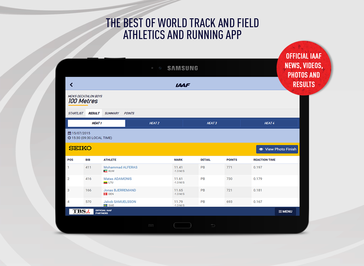 IAAF.org- screenshot