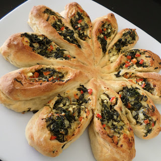 Two Cheese and Spinach Pull Apart Bread
