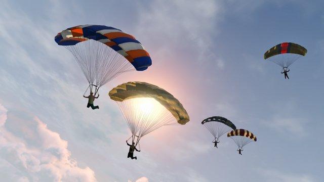 Flüchte in der letzten Attentatsmission mit einem Fallschirm