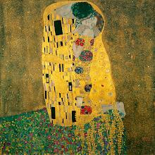 Photo: Gustav Klimt, Der Kuss, 1898