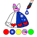 Dress Coloring Glitter colorings for girls icon