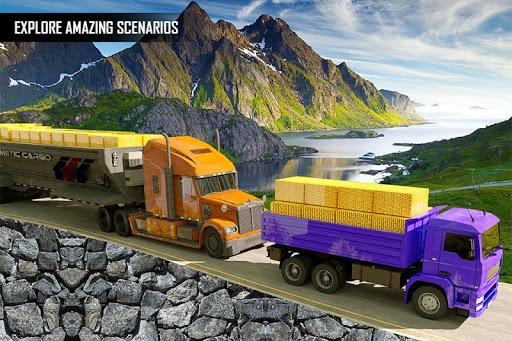 Gold Transporter Truck Driver 2019 : Uphill Driver screenshot 1