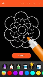 Learn To Draw Glow Flower APK screenshot thumbnail 2