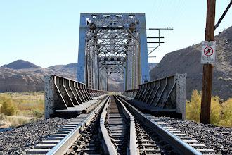 Photo: Railroad bridge over the Mojave River