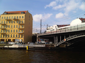 Photo: The Spree, the Bahnhof, and the ICE Train
