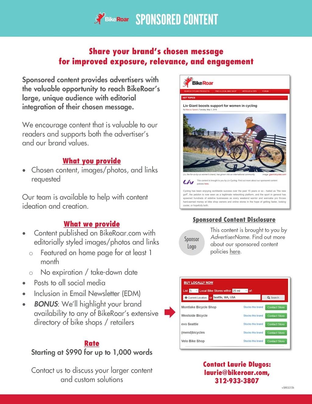 Sponsored Content - BikeRoar