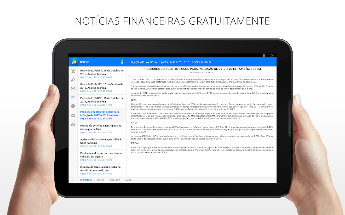 MetaTrader 5: captura de tela