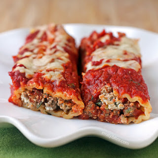 Beef and Sausage Manicotti