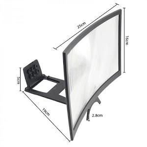 Amplificator de imagine Halber, 12 inch, ecran curbat