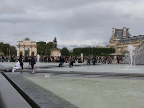 Photo: The line into the Louvre, not too bad