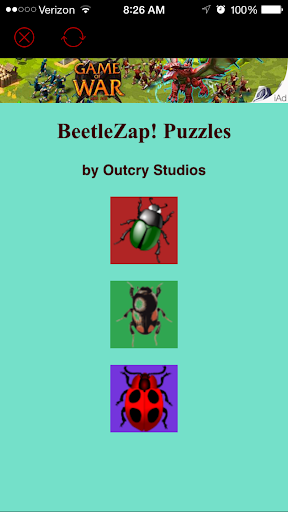 BeetleZap Puzzles bug puzzle