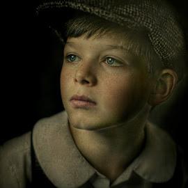 Country boy by Pirjo-Leena Bauer - Babies & Children Child Portraits
