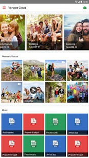 Verizon Cloud for Tablets- screenshot thumbnail