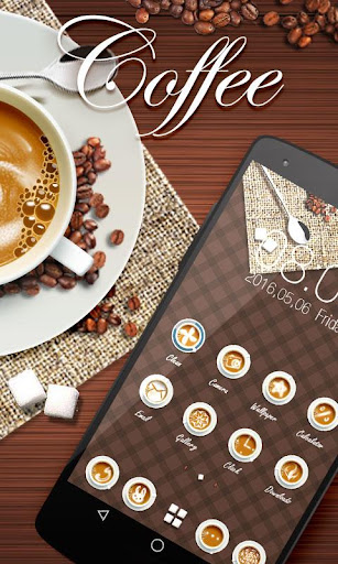 Coffee GO Launcher Theme