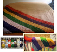 Photo: my work-in-progress. afghan i'm making for our queen-sized bed.  July 2014.