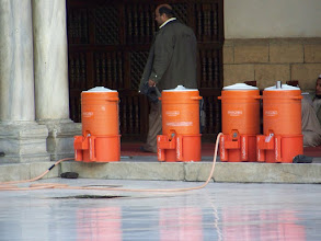 Photo: These watercooler things were on the far side of the courtyard in the mosque.  I have NO idea what they are really for.