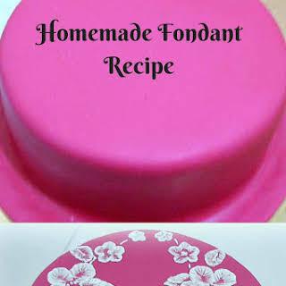 Homemade Fondant Recipe or Sugar Paste.