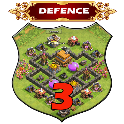 Town Hall 3 Defence Base Layouts