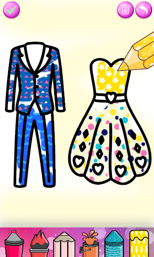 Glitter Wedding Coloring Book - Kids Drawing Pages screenshot 14