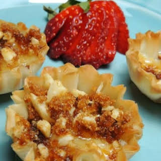 Brie Filled Phyllo Cups.