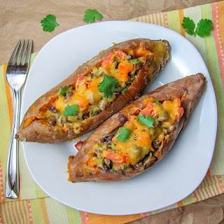 Chipotle Black Bean Stuffed Sweet Potatoes.