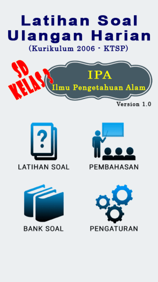 Bank Soal Sd Kls 3 Ipa Android Apps On Google Play