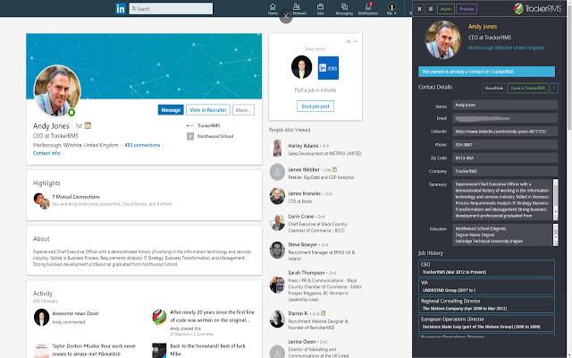 Tracker for LinkedIn